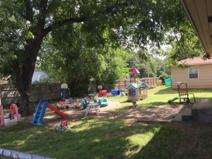 Toddler & 2's Play Yard. Enjoy the Natural Shade, Trees and fun in the Sun.